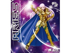 GALACTIC NEBULA  Saint Seiya Myth Cloth Ex Gold Aries Mu + Kiki Head  Figure