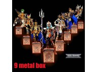 Saint Seiya Myth Cloth Scale Poseidon Sea Metal Pandora Box + Wooden Box